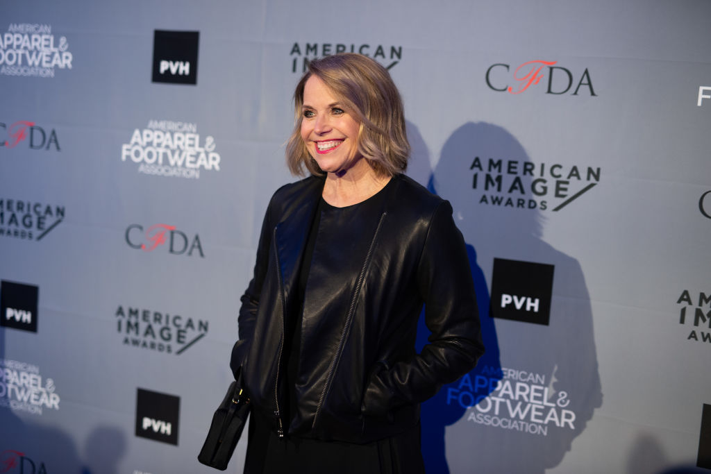 Host Katie Couric arrives at the American Apparel & Footwear Association's