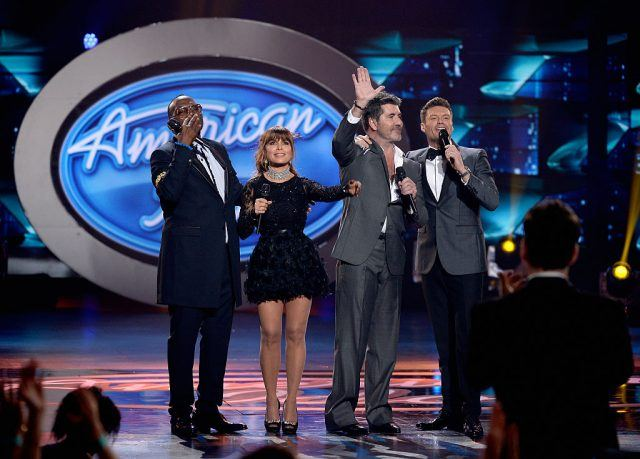 The judges of 'American Idol' on stage.