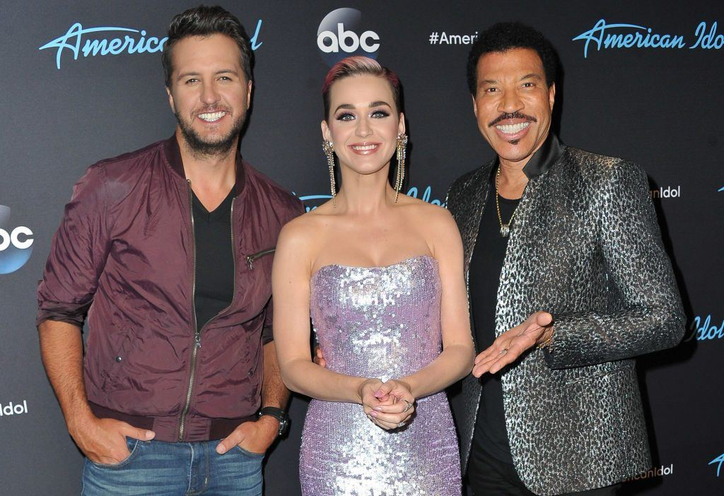 """Judges Luke Bryan, Katy Perry and Lionel Richie arrive at ABC's """"American Idol"""" show on April 23, 2018 in Los Angeles, California"""