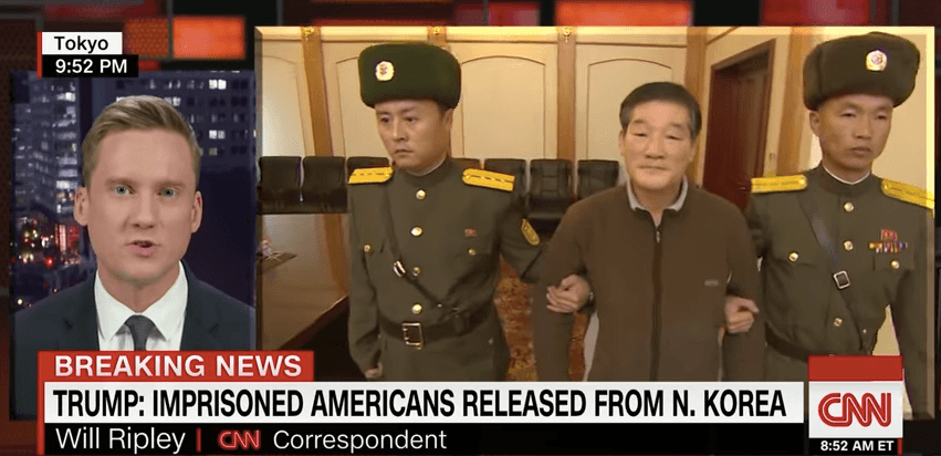 Kim Dong Chul, an American prisoner coming home from North Korea