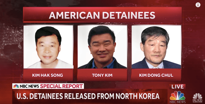 Americans detained by North Korea