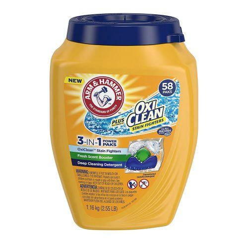 Arm & Hammer Plus Oxiclean 3-in-1 Laundry Detergent Paks
