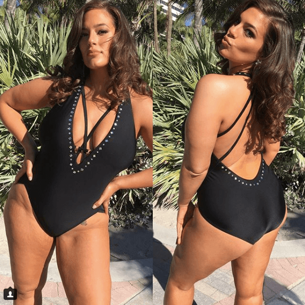 Ashley Graham in a swimsuit on Instagram