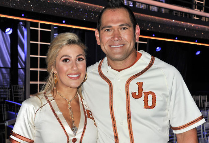Johnny Damon and Emma Slater