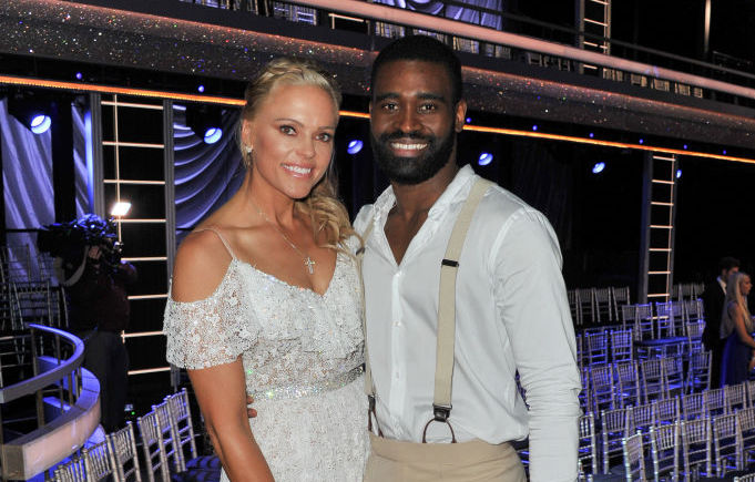 Jennie Finch Daigle and Keo Motsepe