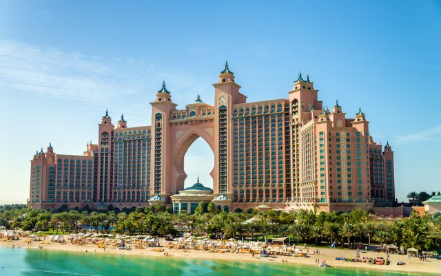 Atlantis hotel on Palm Jumeirah island, Dubai