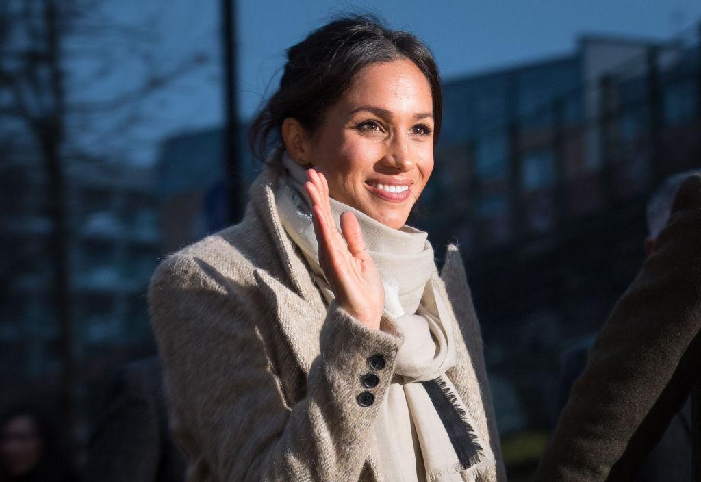 Meghan Markle in a scarf