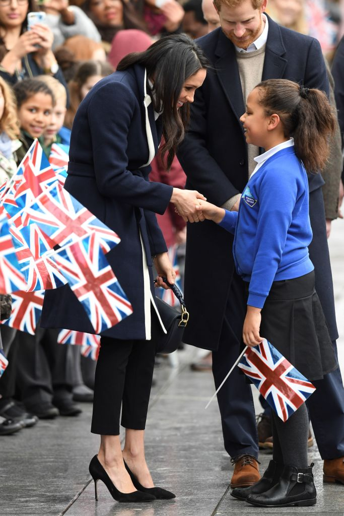 Britain's Prince Harry and his fiancee US actress Meghan Markle