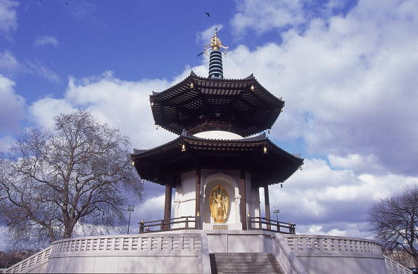 General view of Battersea Park Pagoda during the Guardian Direct Cup at Battersea Park in London