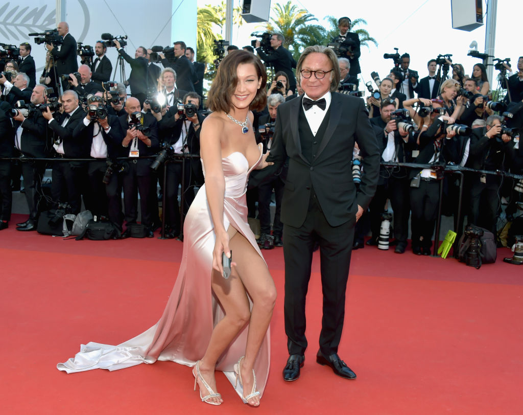 Bella Hadid wardrobe malfunction at Cannes