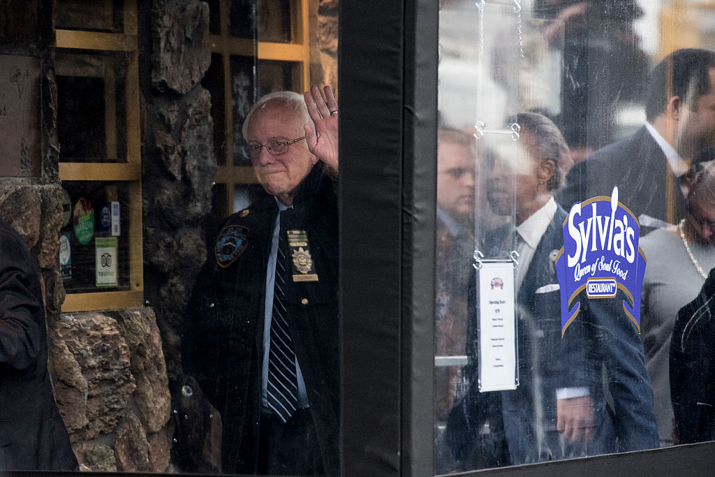 Bernie Sanders Meets With Al Sharpton In New York at Sylvia's restaurant