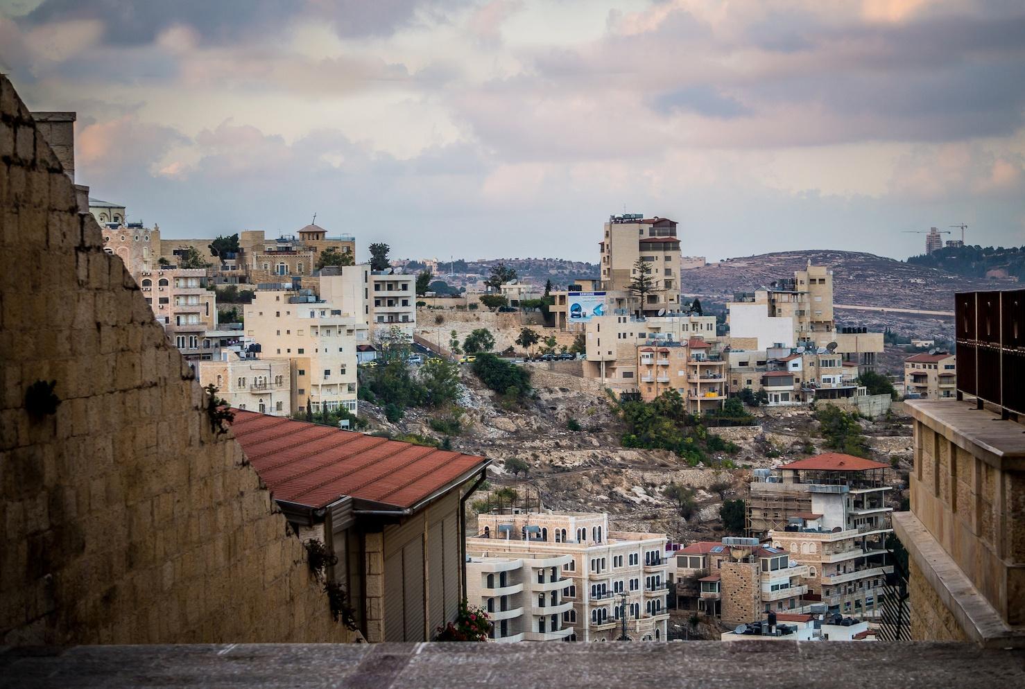 Urban landscape of modern Bethlehem