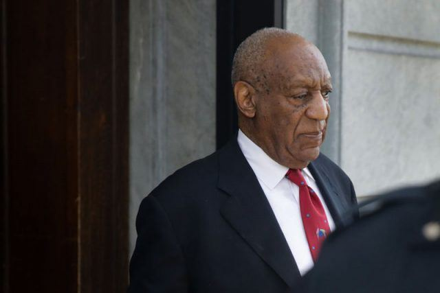 Bill Cosby leaving the courthouse.