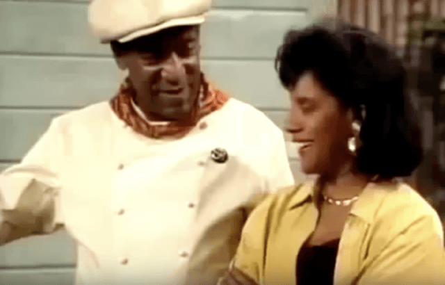 Cliff Huxtable speaking with his wife in the backyard.