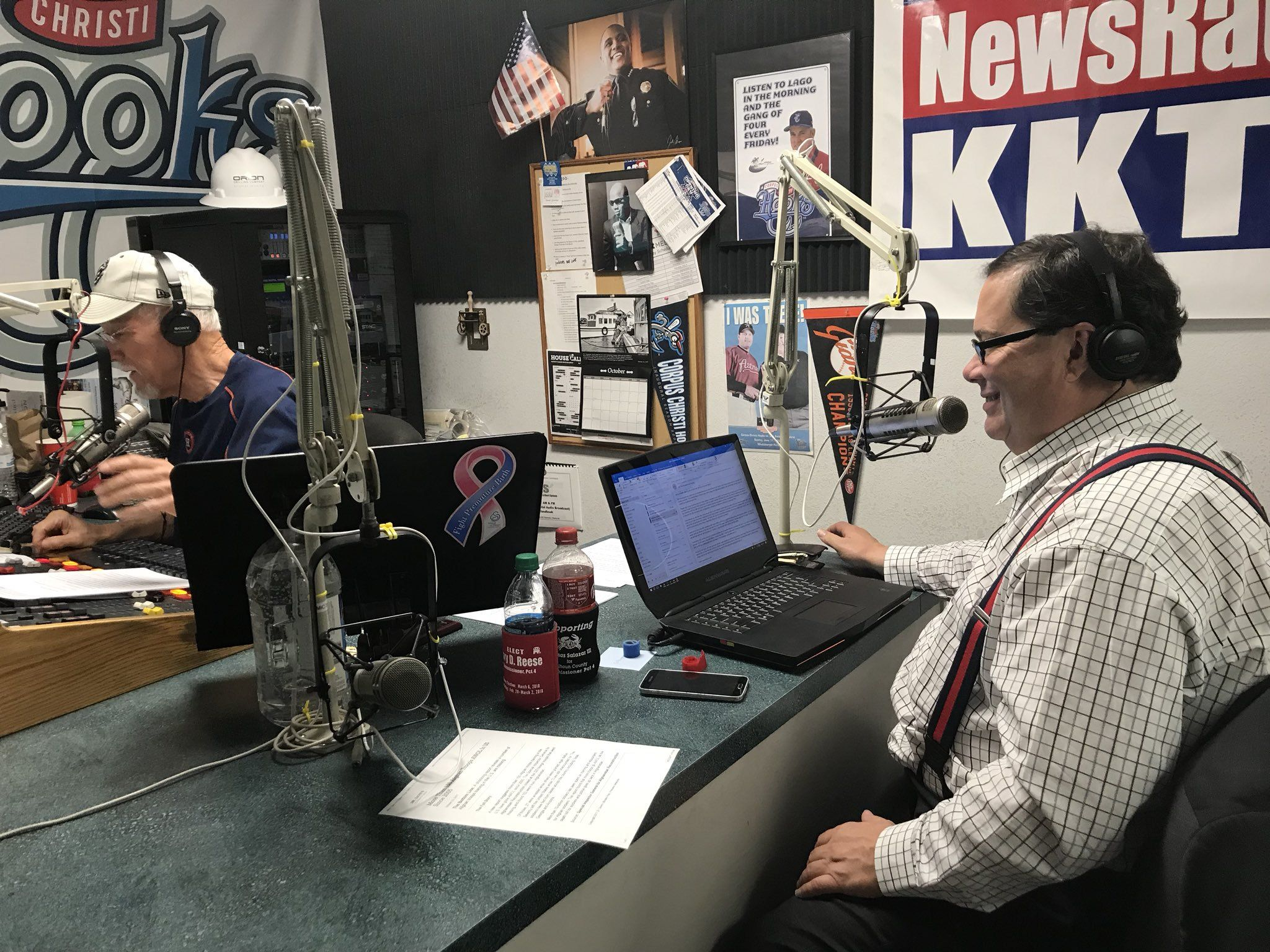 Blake Farenthold giving interview on radio