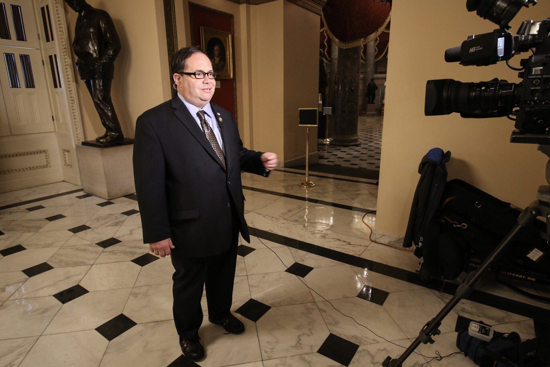 Blake Farenthold giving interview