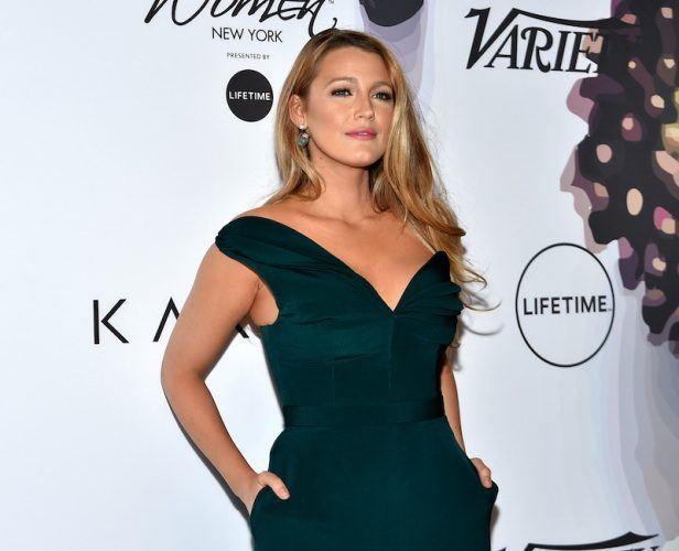 Blake Lively with her hands in her pockets.