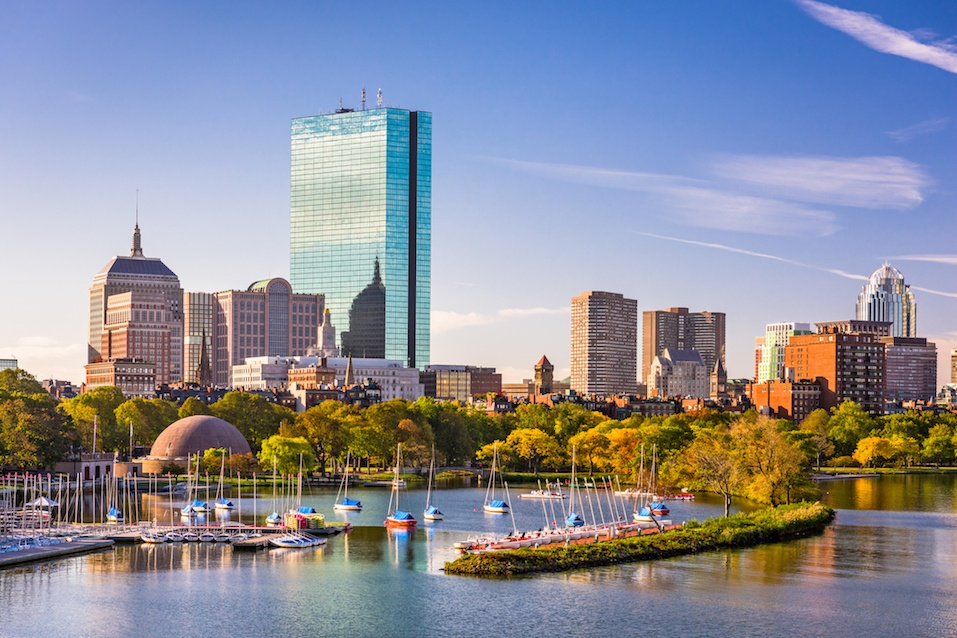 Boston, Massachusetts, where holiday spending is through the roof.
