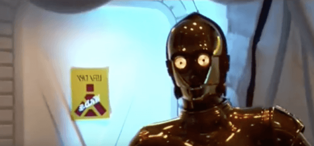 C-3PO in 'A New Hope'.