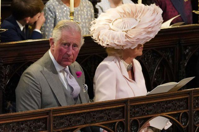 Camilla and Charles at the wedding of Prince Harry and Meghan.