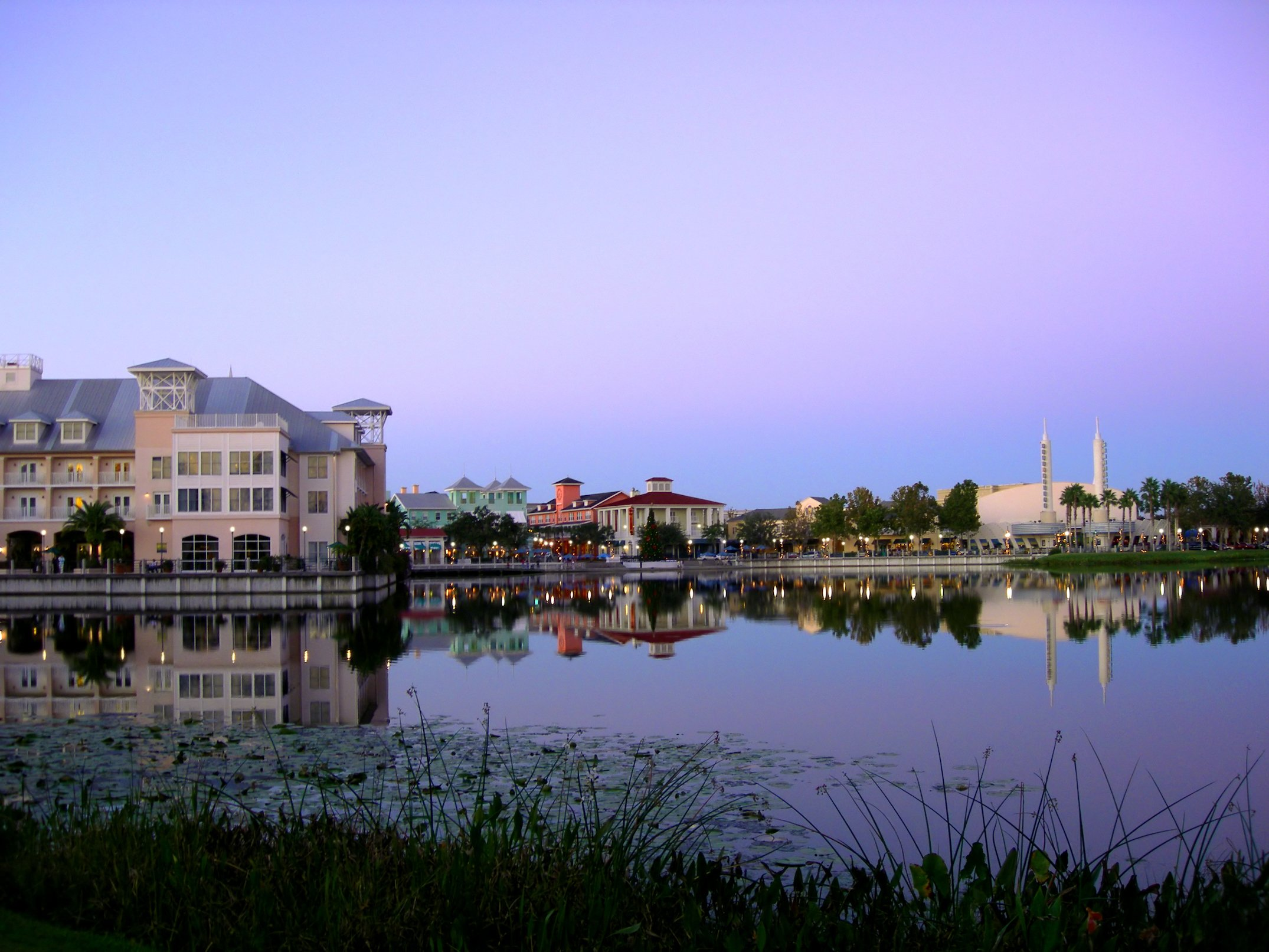 Celebration Florida at Dusk