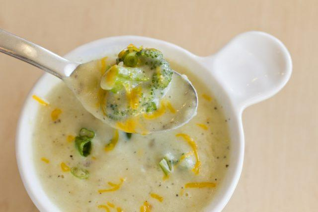 Broccoli and cheddar soup.