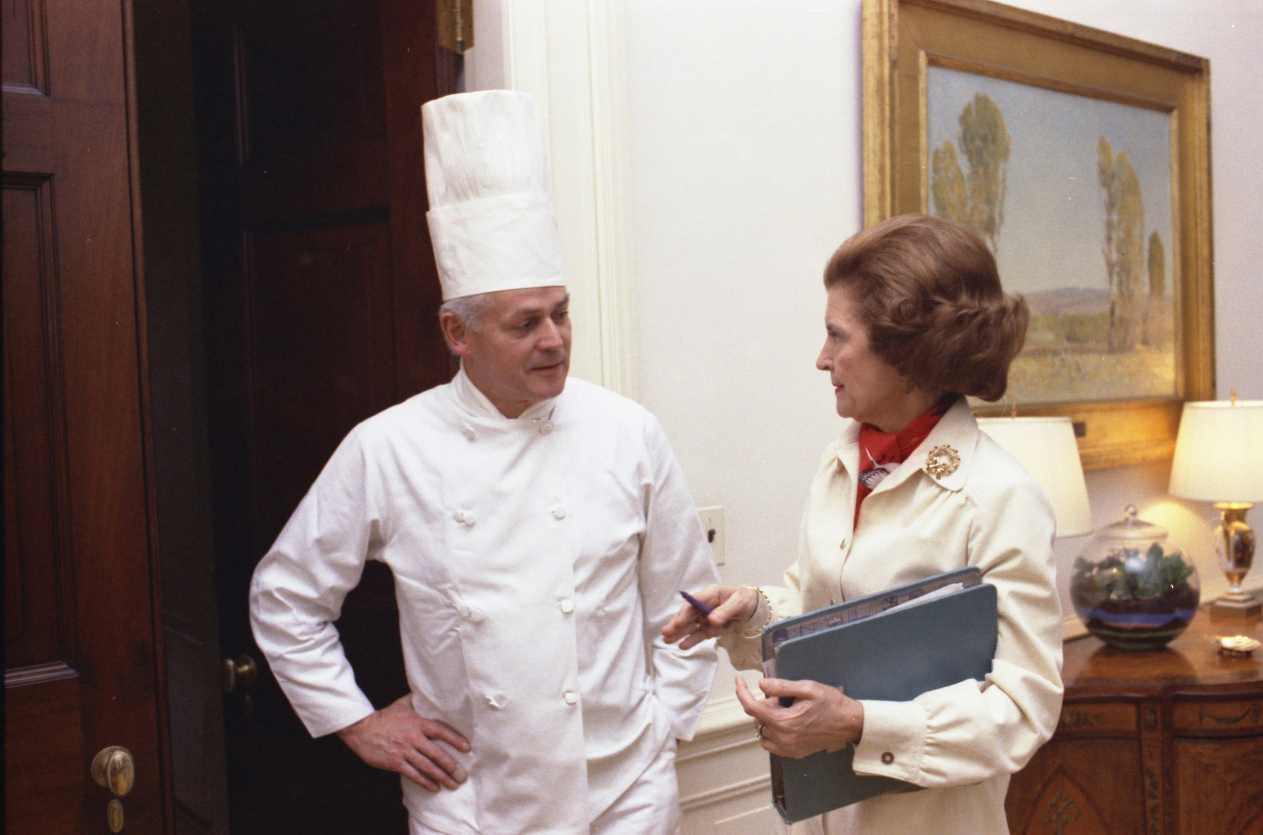 Chef Henry Haller with Betty Ford
