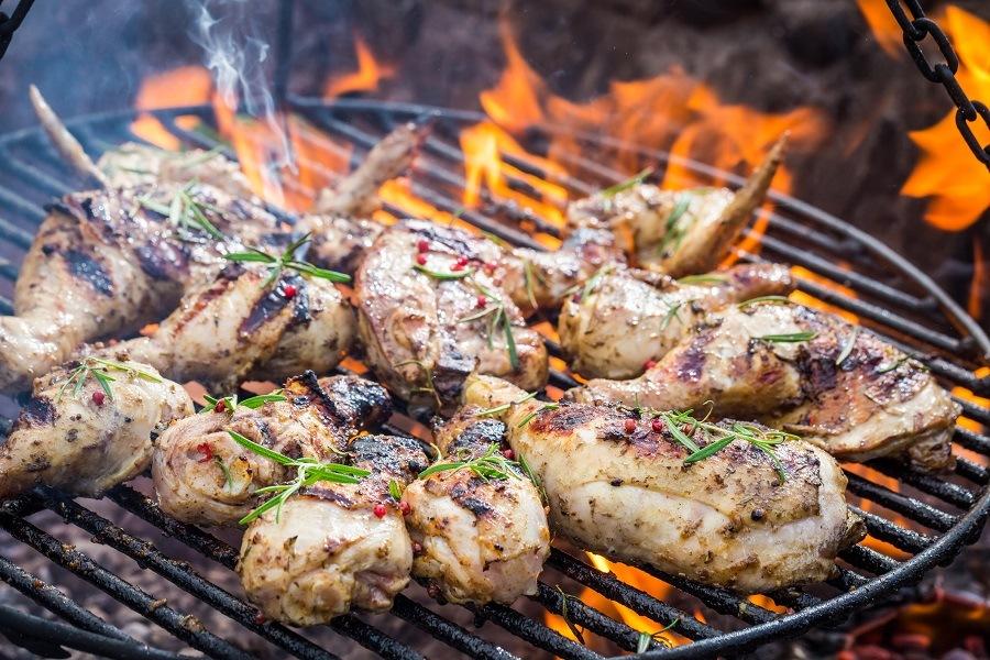 Chicken on grill