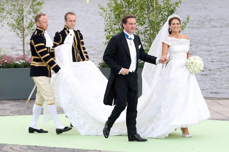 Princess Madeleine of Sweden on her wedding day