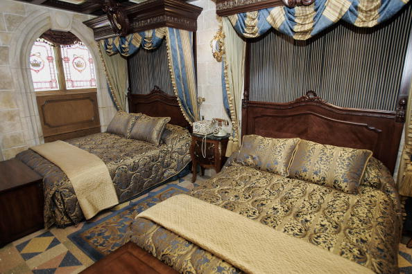 An interior view of the royal suite inside Cinderella's Castle at Walt Disney World
