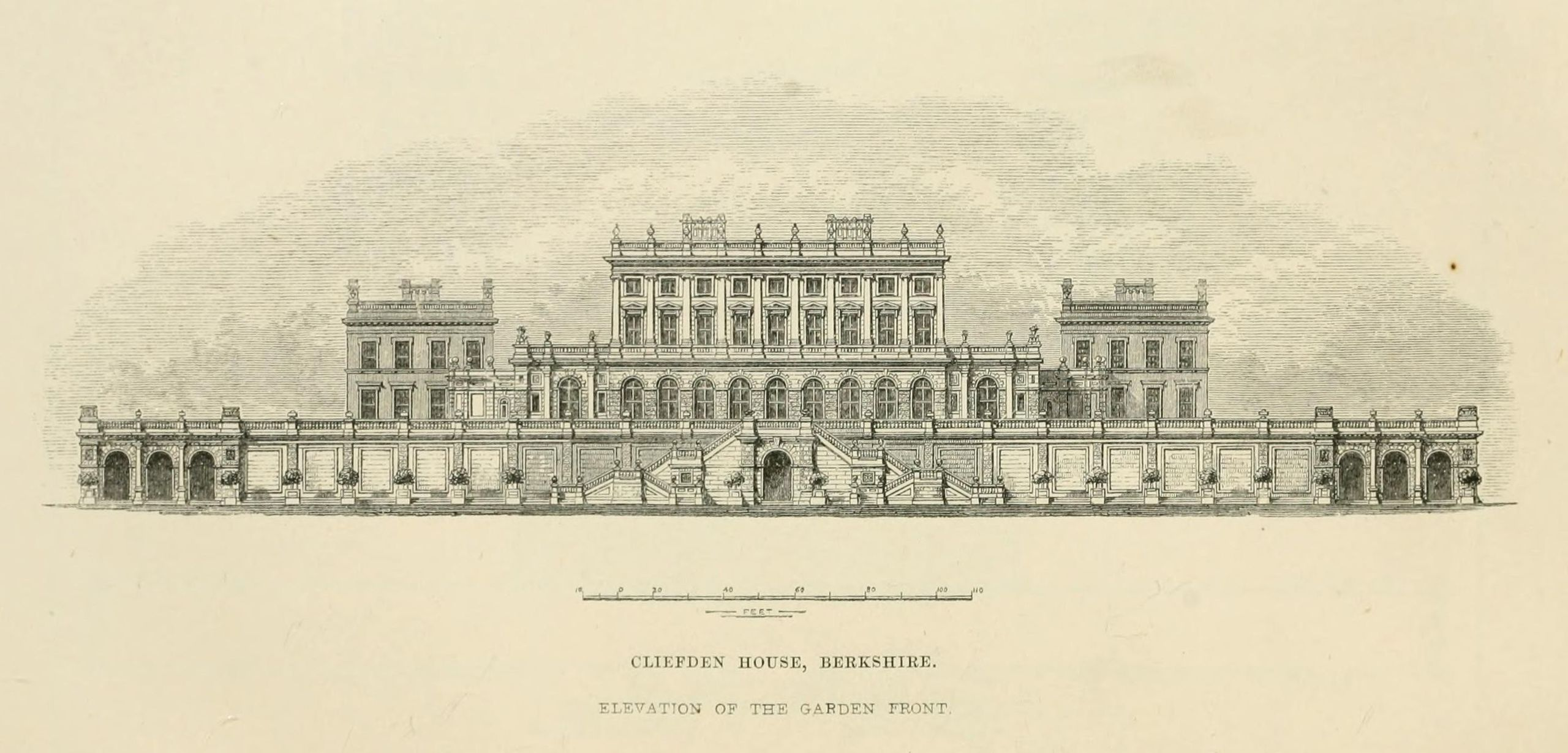Cliveden drawing