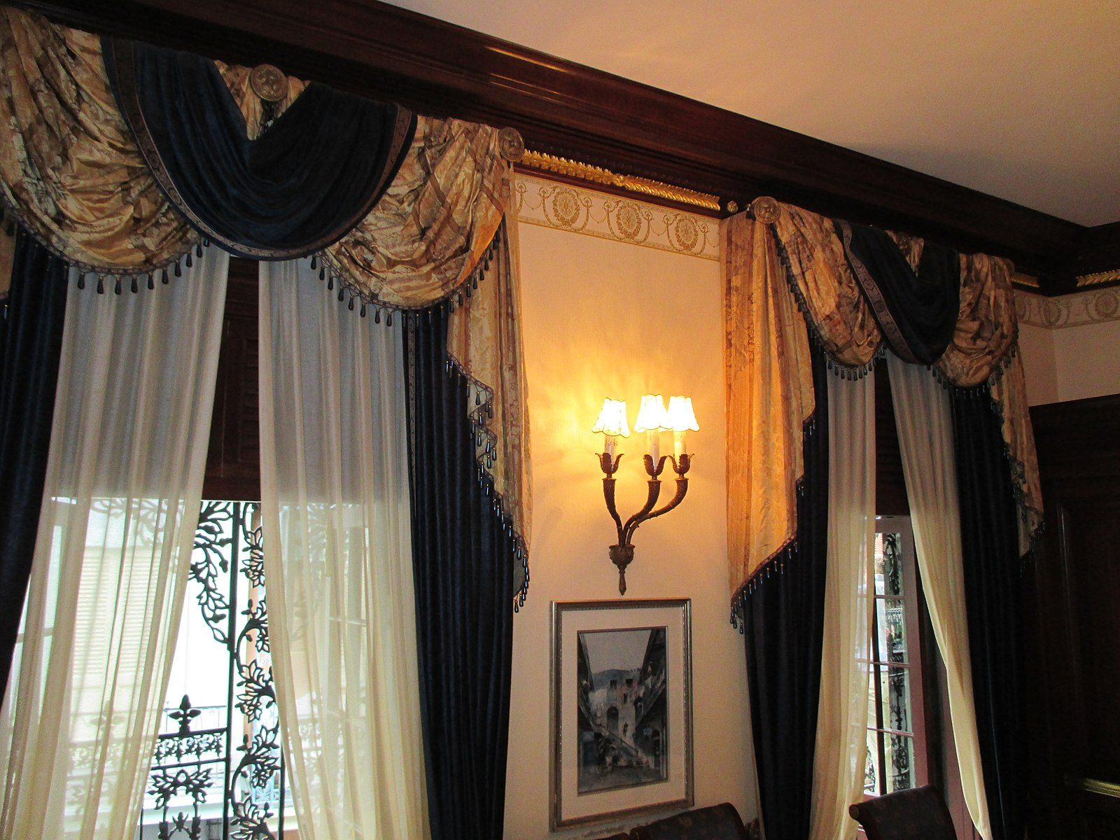 Club 33 curtains