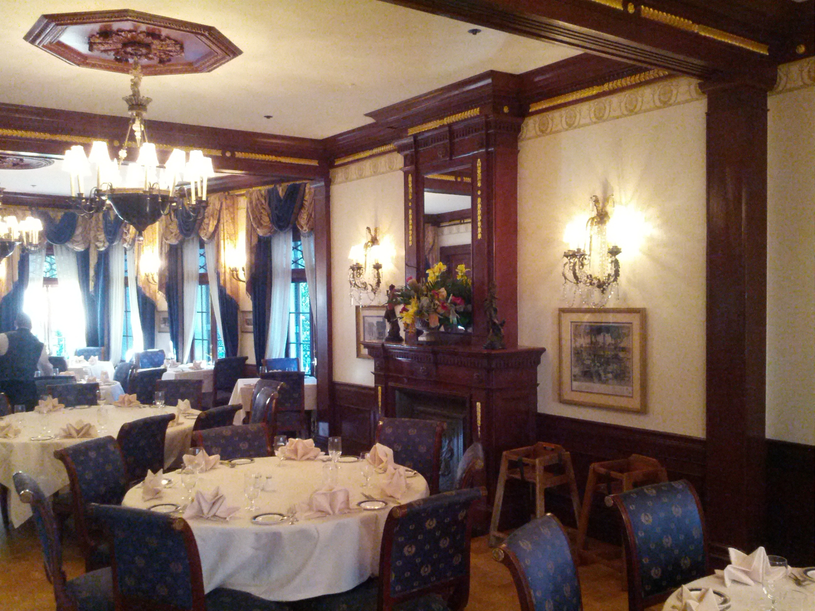 Club 33 dining room