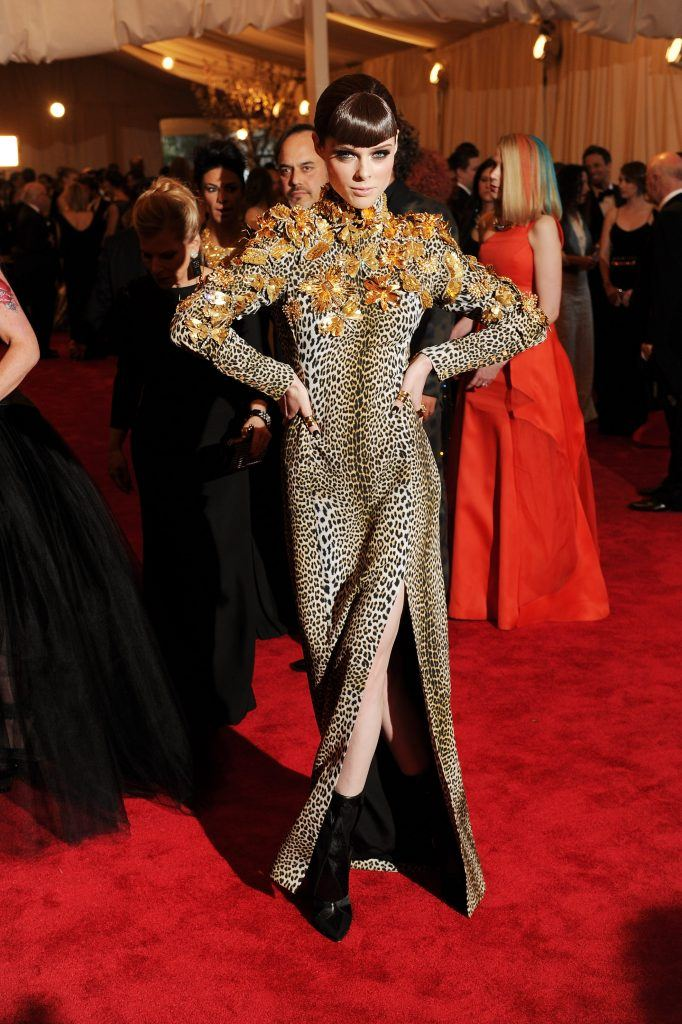 """Model Coco Rocha attends the Costume Institute Gala for the """"PUNK: Chaos to Couture"""" exhibition"""