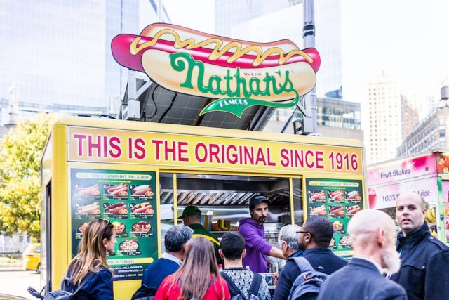 Nathan's Hot Dog Food Truck stand