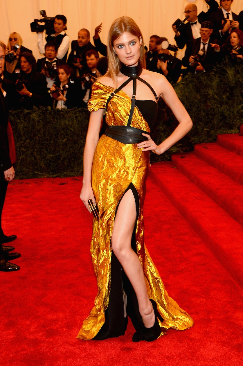 "Constance Jablonski at Met Gala ""PUNK: Chaos To Couture"" Costume Institute Gala"