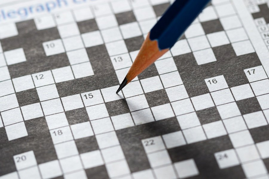 Crossword Puzzle and Pencil
