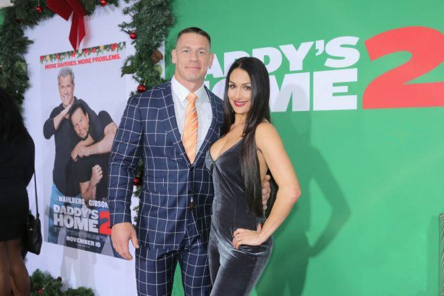 John Cena and Nikki Bella attend the Los Angeles Premiere of 'Daddy's Home 2' at Regency Village Theatre