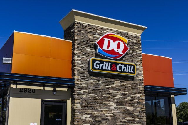 Dairy Queen Retail Fast Food Location. DQ i
