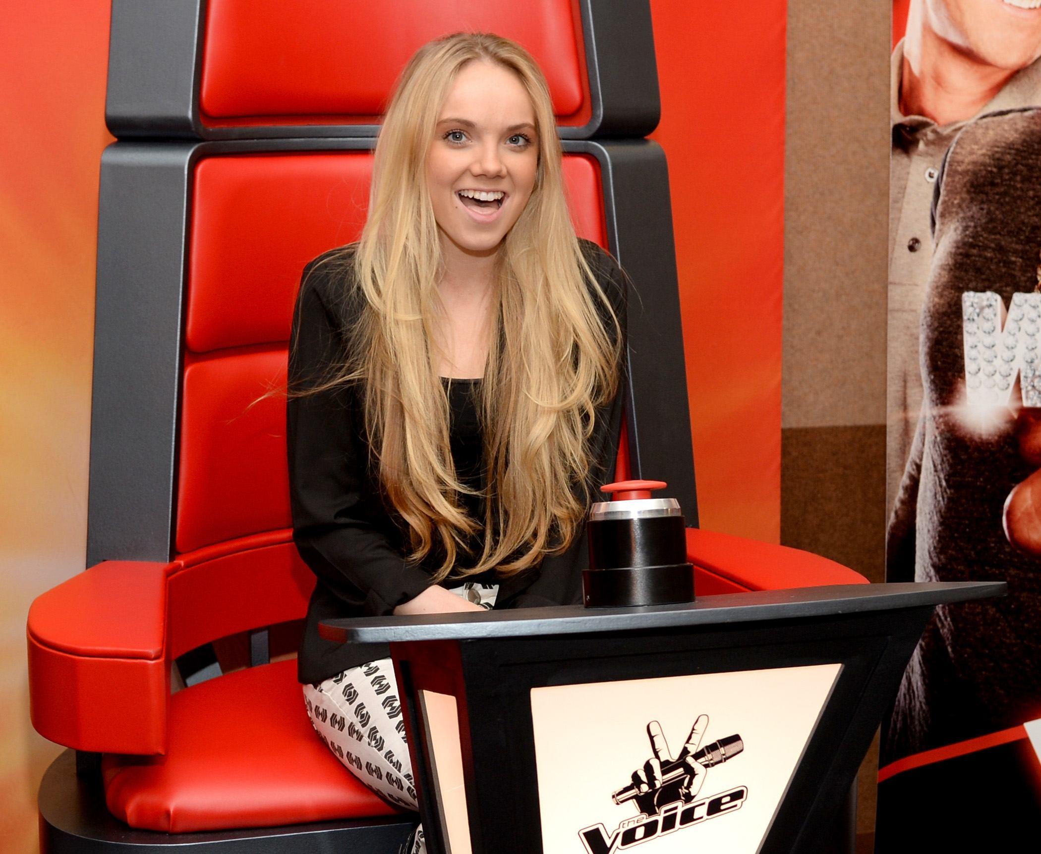 Danielle Bradbery in the voice chair