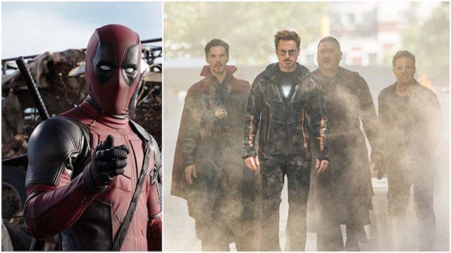 Collage featuring Deadpool and 'Avengers: Infinity War' characters.