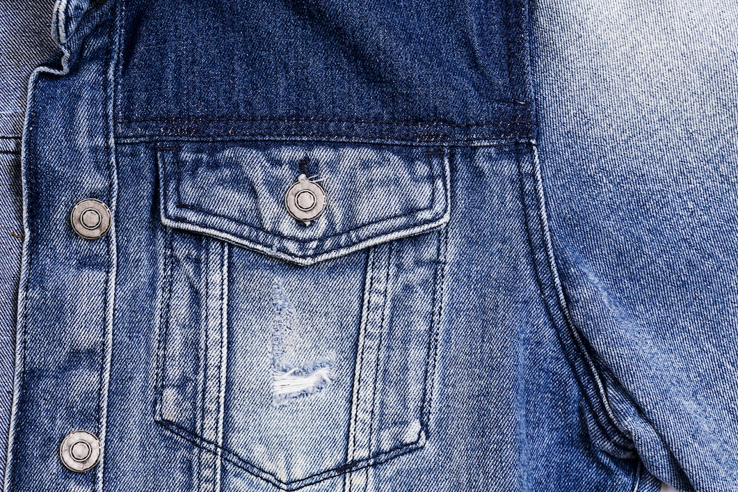 Blue jeans jacket background