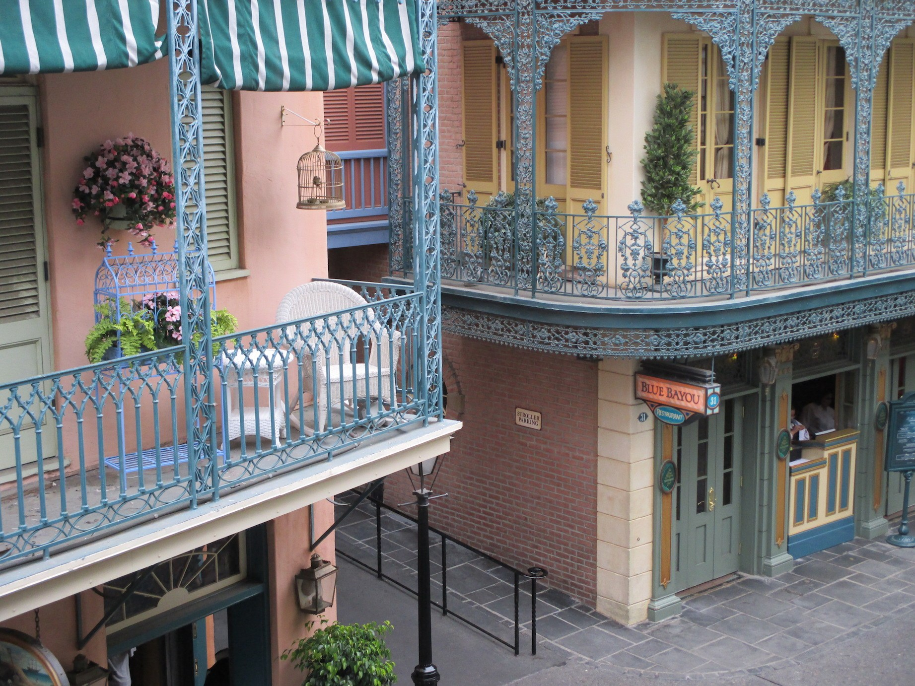 Disneyland New Orleans Square balcony