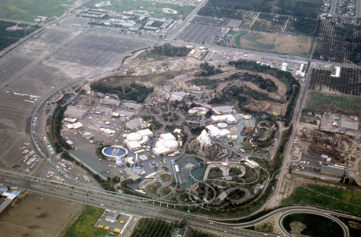 Disneyland aerial view 1962