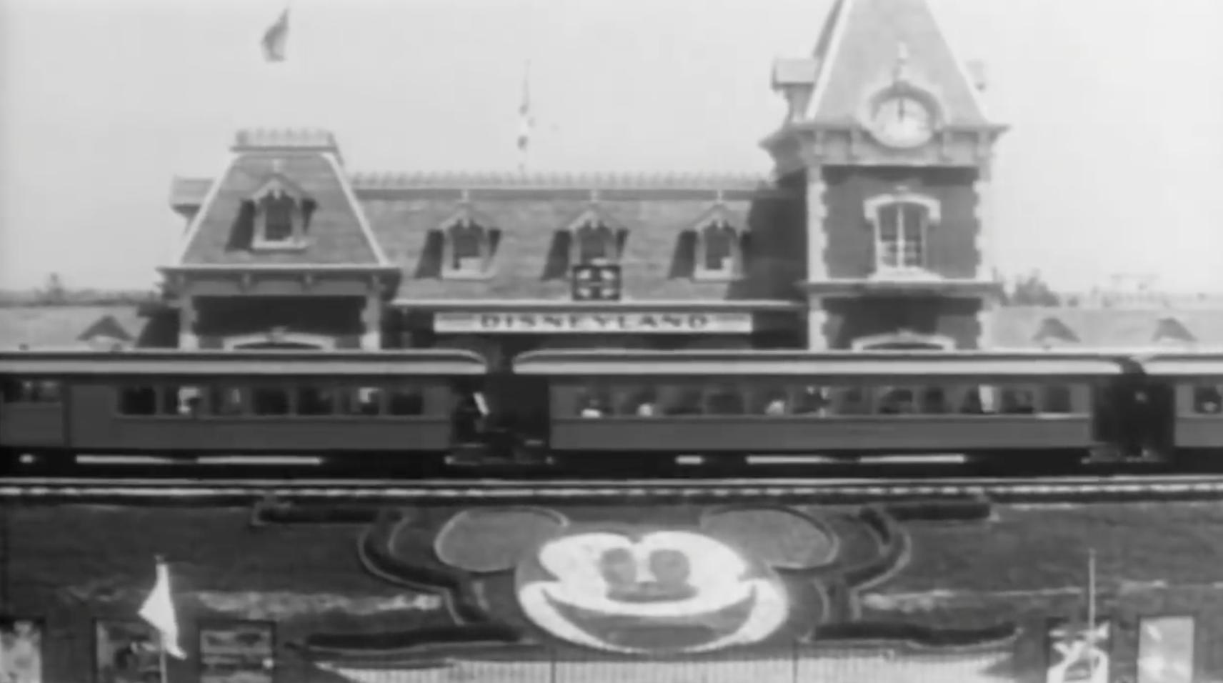 Disneyland opening footage