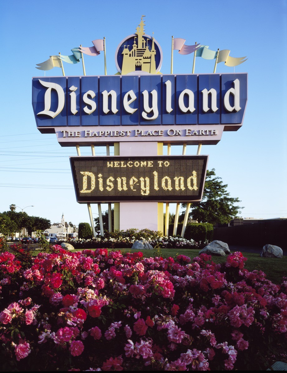 Disneyland sign 1955