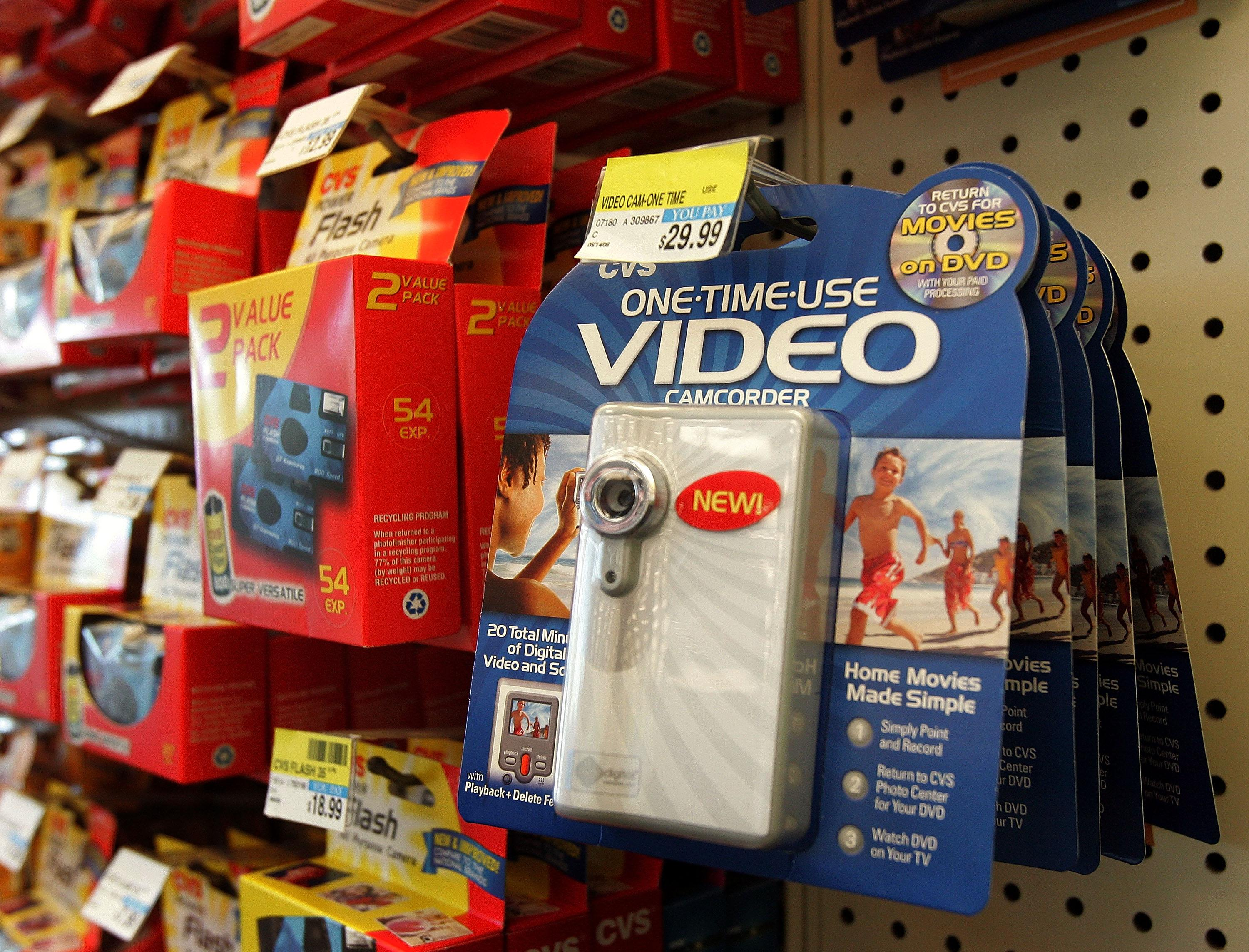 Disposable cameras and camcorders