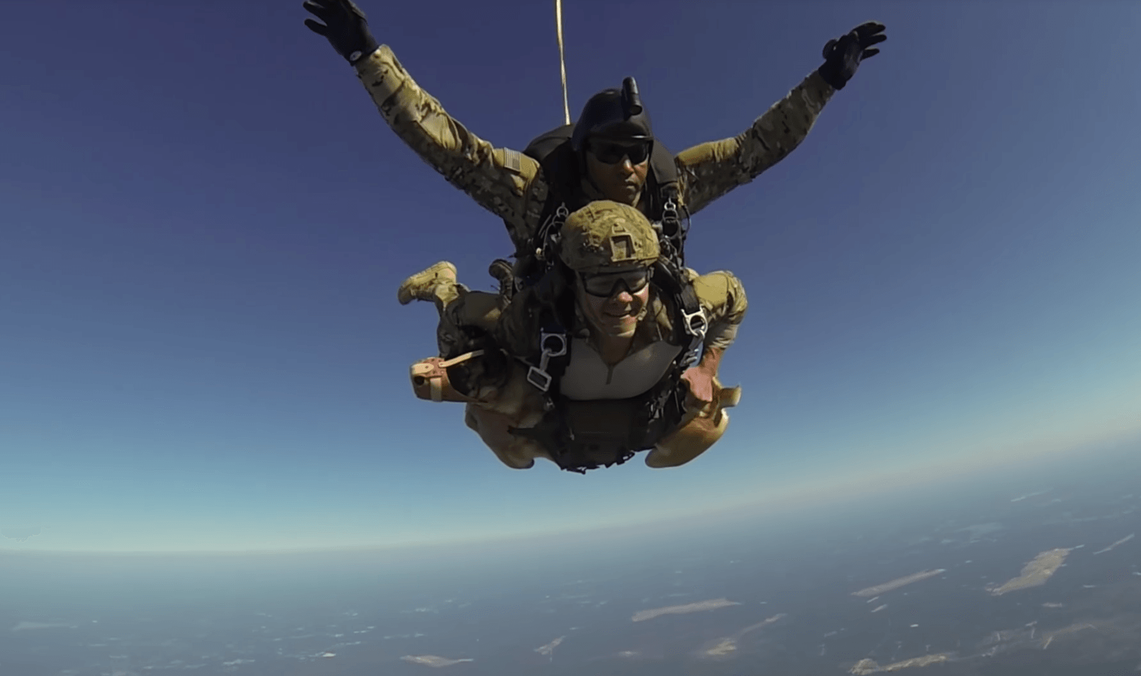 military Dog skydiving