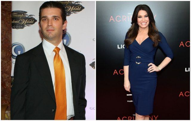 Donald Trump Jr and Kimberly Guilfoyle collage.