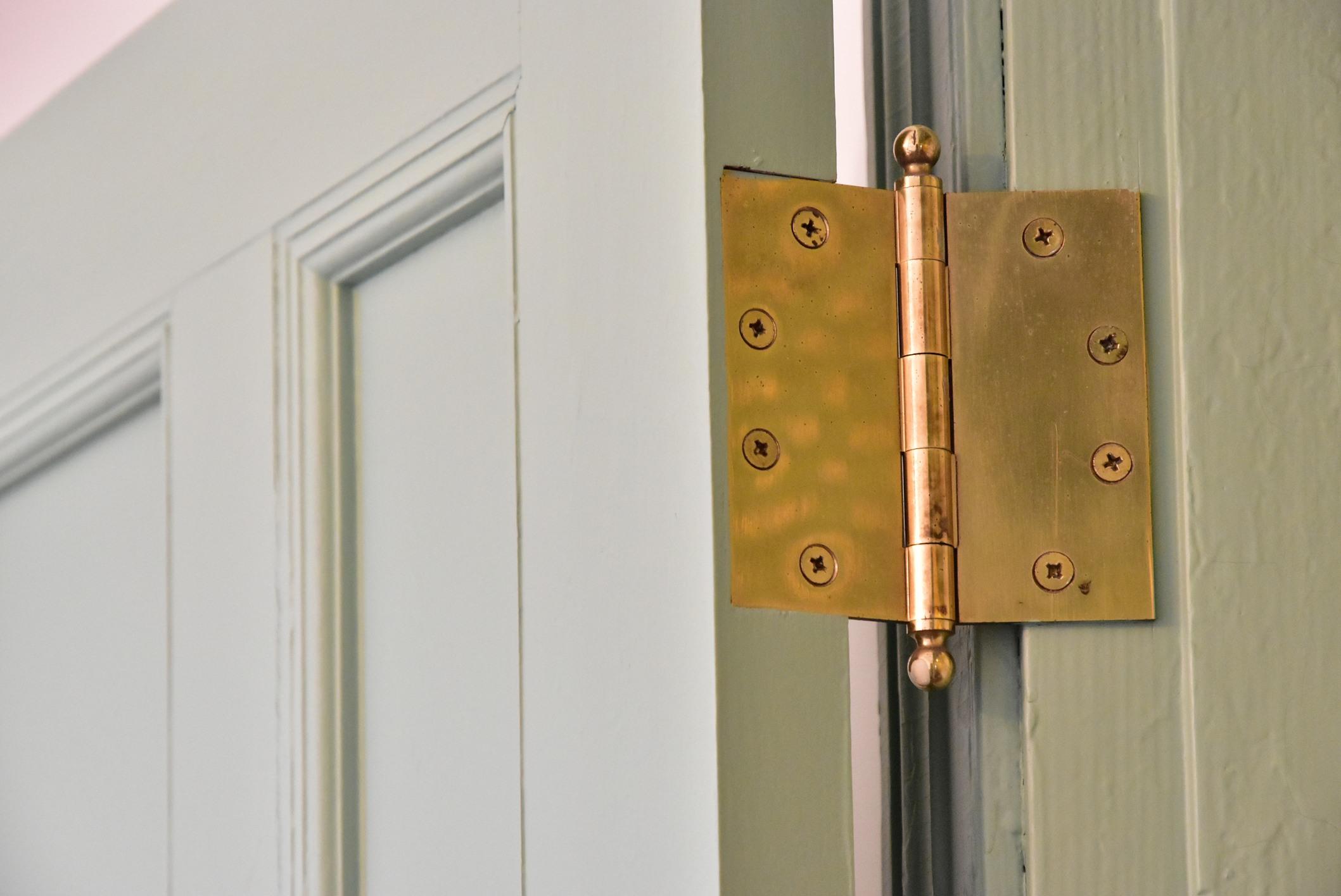 Wooden door hinge